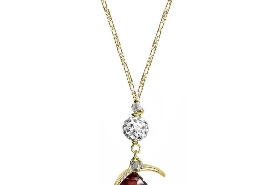 Garnet - Moon Wish Necklace