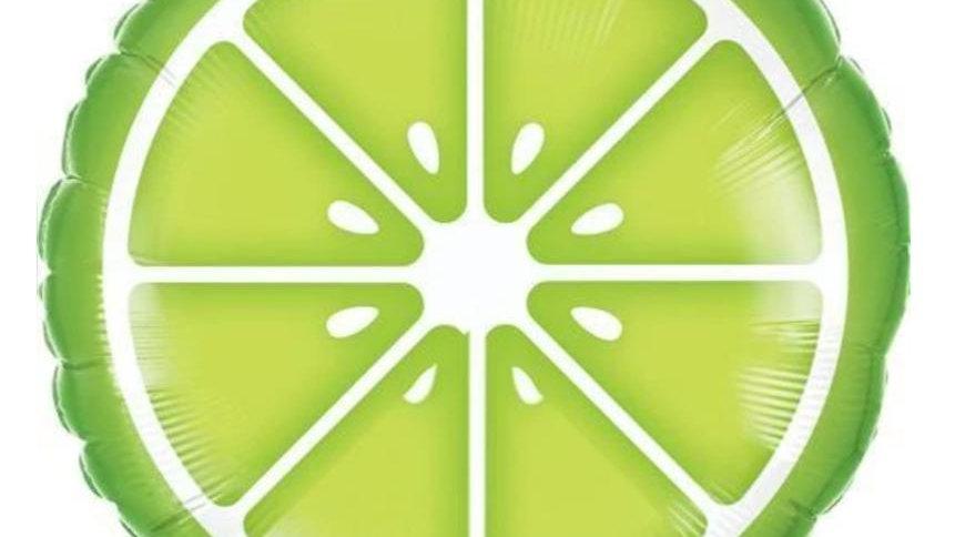 Slice of Lime Foil Balloon
