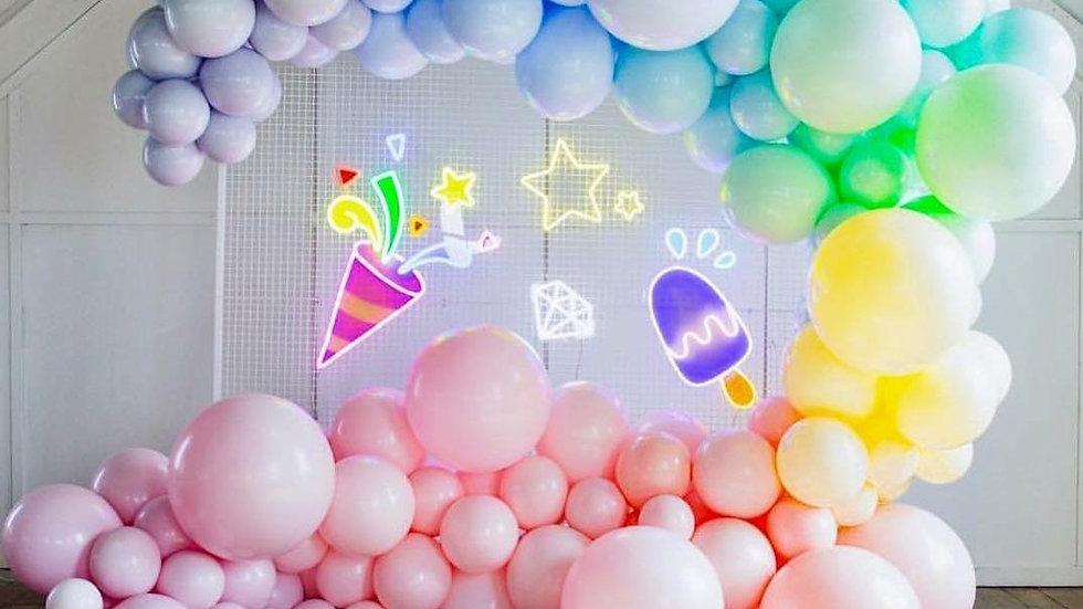 Ice Cream Summer Balloons Arch Kit