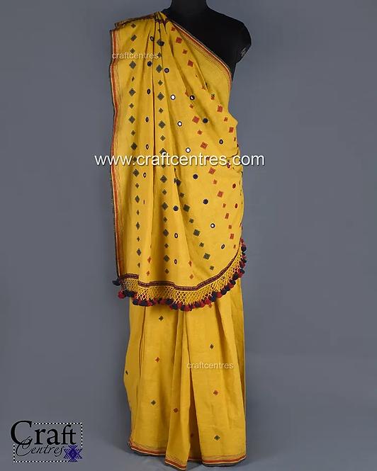 Hand Embroidery Bhujodi Saree