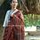 Ajrakh Hand Block Print Bhujodi Linen Saree