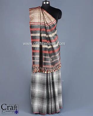 Tussar Silk Handloom Bhujodi Saree 848.w