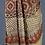 Gajji Silk Ajrakh Block Print Saree