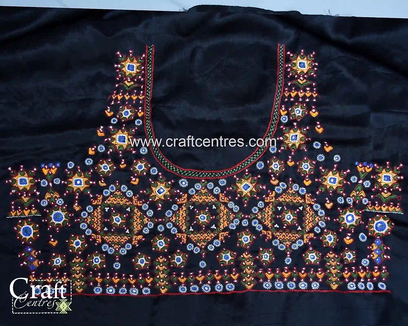 Black Silk Embroidery Blouses