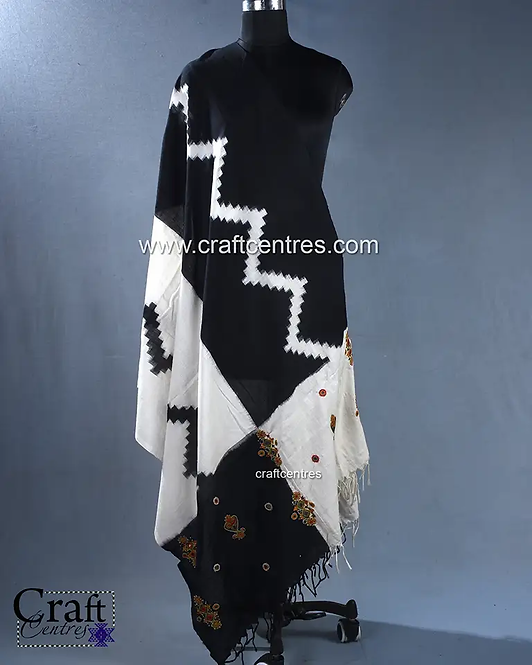 Kutchi Hand Embroidery Stoles And Dupattas