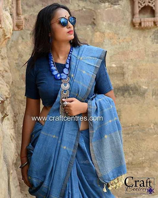 kala cotton natural dyes handloom bhujodi saree