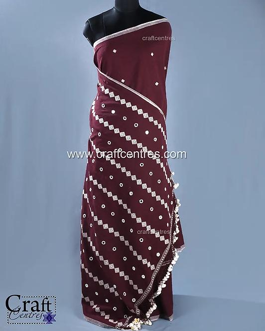 Hand Embroidery Kutchi Saree