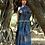 Indigo Dyes Linen Saree with Blouse