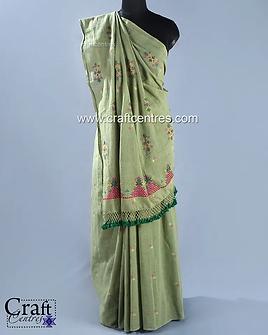 Soof Embroidery Kala Cotton Saree   1565