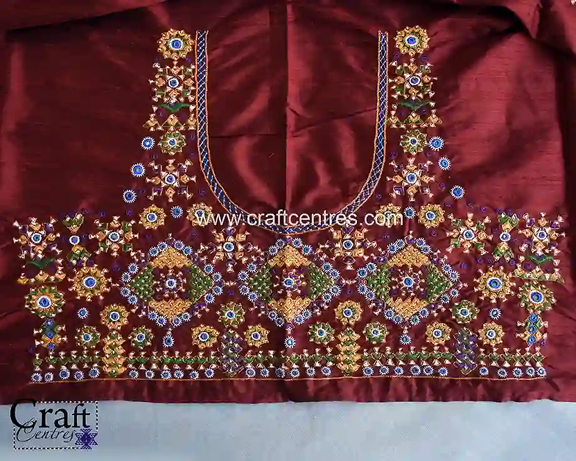 Royal Silk Blouses With Hand Embroidery