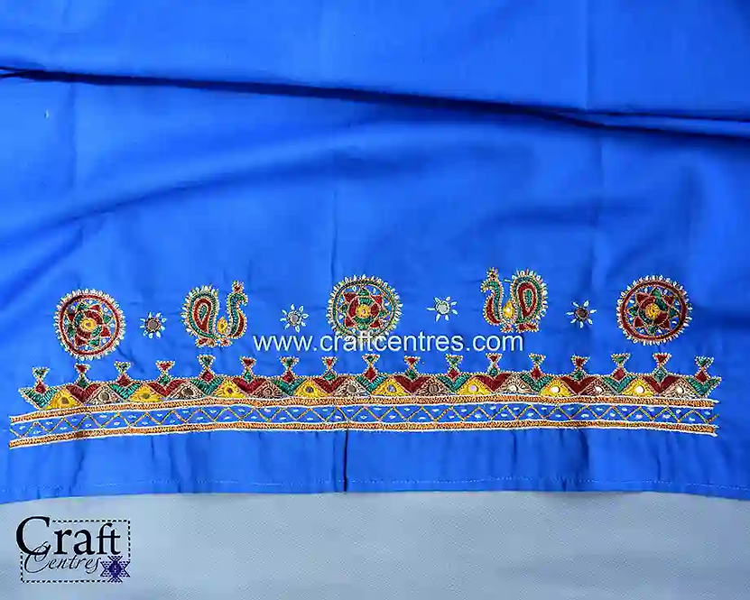 Kutchi Hand Embroidery On Blouse piece