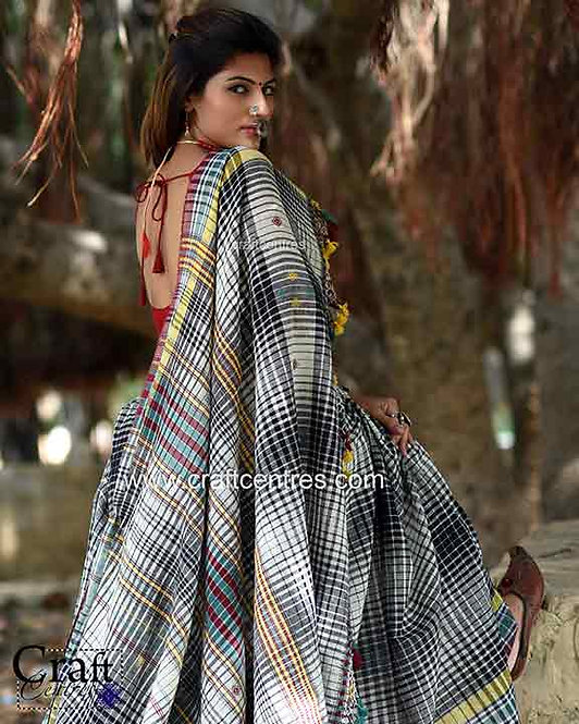 kala cotton handloom bhujodi saree