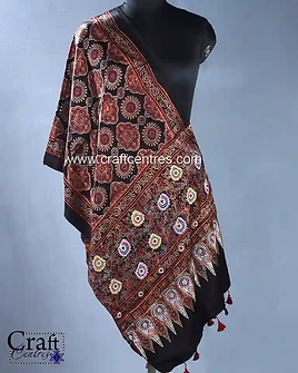 Hand Embroidery Msharu Silk Stoles   119