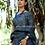 Linen Handloom Kutchi Print Saree with Blouse