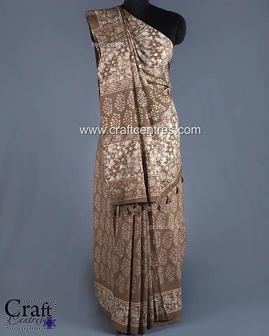Batik Hand Block Print Saree