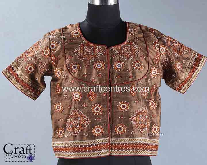 Raw Silk Embroidery Blouses