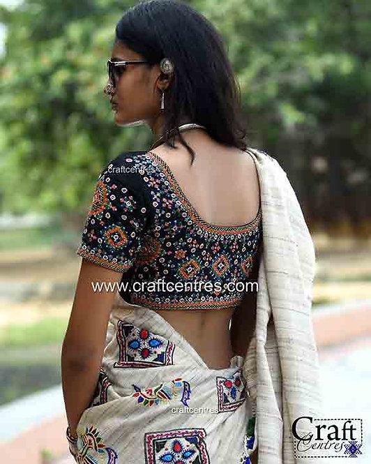 tussar silk handloom bhujodi saree
