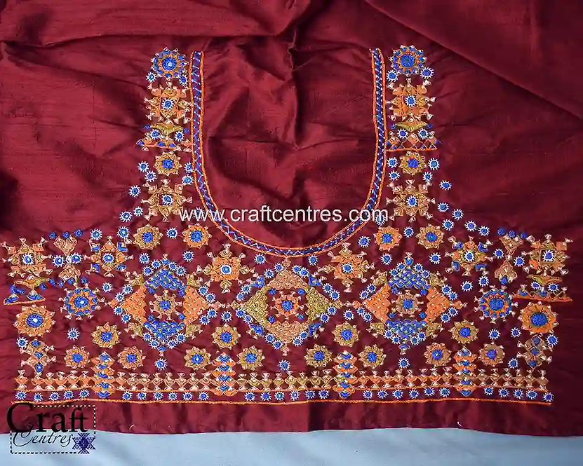 Hand Embroidery Blouse Piece Online