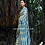 Natural Indigo Dyes Organic Khadi Cotton Saree