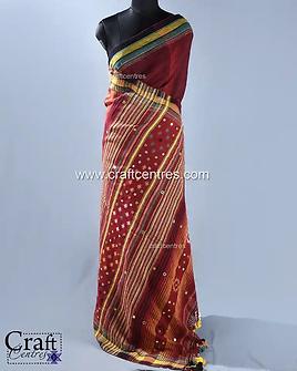 Embroidery Kala Cotton Bhujodi Saree   1