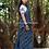 ajrakh Block Print Linen Bhujodi Saree
