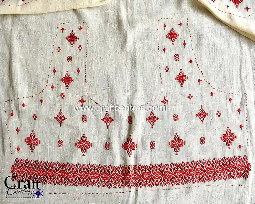 Kala Cotton Blouse Piece With Embroidery