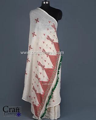 Soof Embroidery Kala Cotton Saree   918.