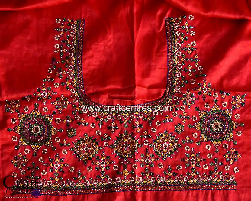 Silk Blouse Piece With Embroidery