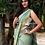indigo saree bhujodi handloom kala cotton saree