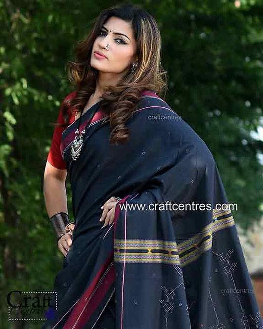 Tangaliya weaving handloom saree