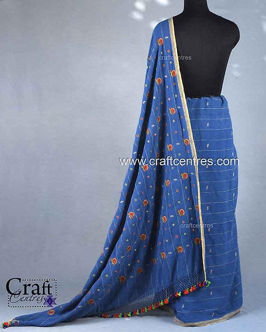 Ahir Embroidery Saree