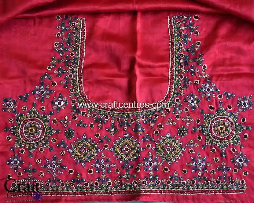 Neran Embroidery Silk Blouse Piece