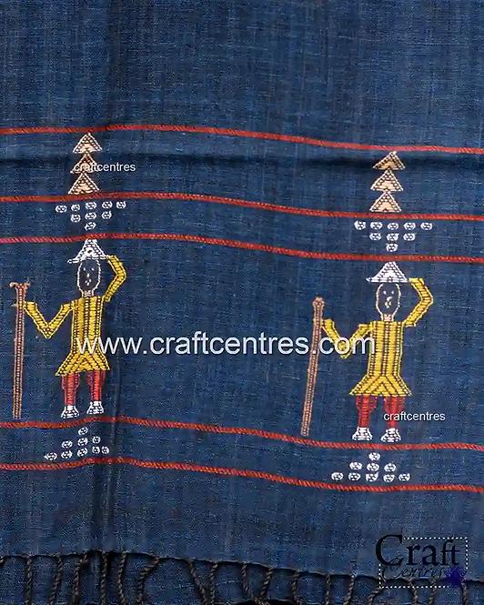 Art Of Extra Weft Bhujodi Handloom Stoles