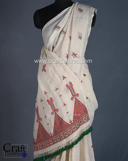 soof Embroidery Saree