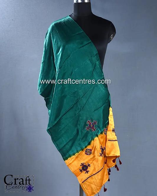Hand Embroidery Mashru Silk Stoles