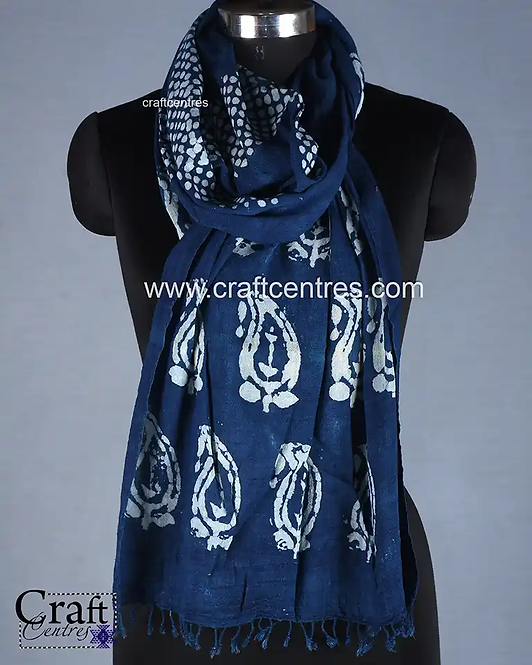 Batik hand Block Print Stole