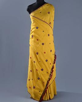 Neran Embroidery Kala Cotton Saree 1559.