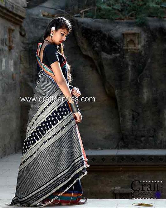 Tussar Silk Bhujodi Saree With Blouse Piece