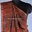 Linen Saree With Ajrakh Block Print