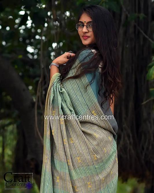 kala cotton bhujodi handloom saree with free blouse online
