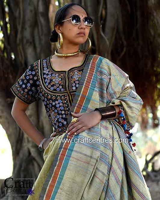 monga silk handloom bhujodi saree
