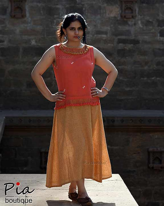 kala cotton one piece handloom dress