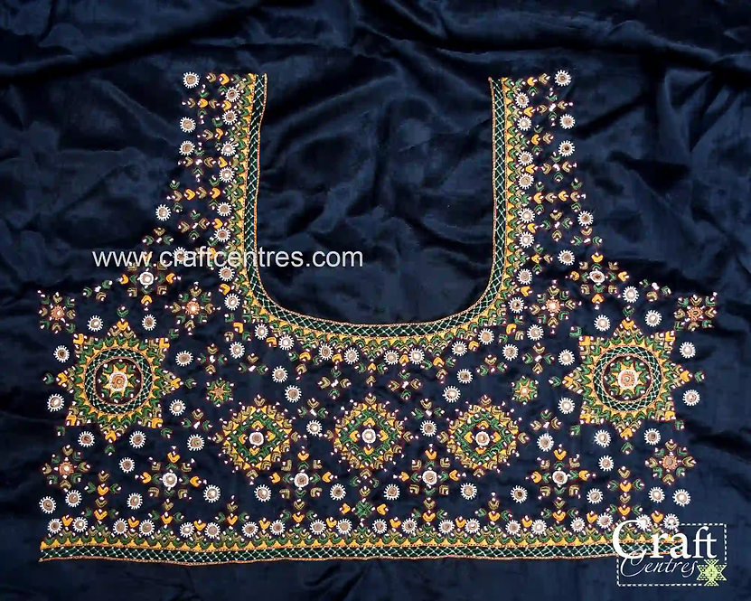 Embroidery Silk Kutchi Blouse Piece