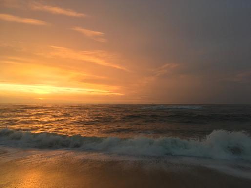Immer noch der Sonnenuntergang über dem Meer auf Sylt!