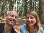 Mein Mann Kai und ich in unserem Wald, der Haake in Hamburg..:-)