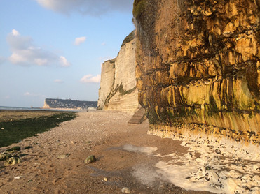 Die wunderschöne Felsenküste der Normandie