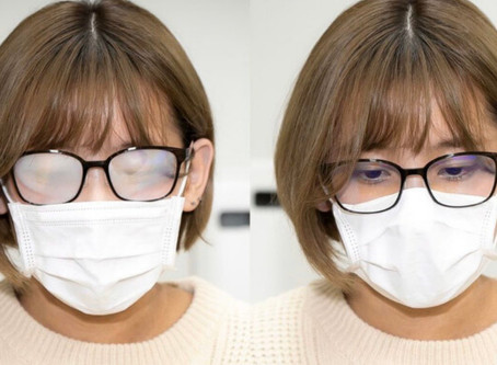 How to wear a Face Mask without Fogging your Eyeglass Lenses.