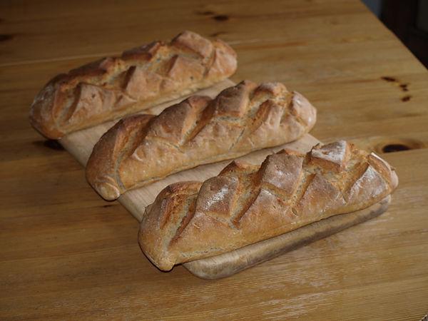 Chambre d'hôte à Albertville (Marthod) en Savoie : le pain juste sorti du four.