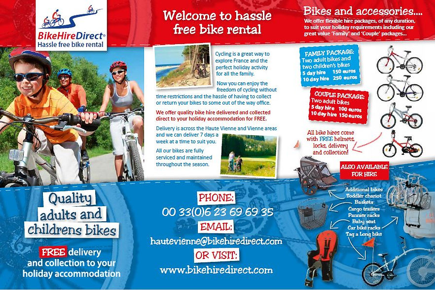 BikeHireDirect Haute Vienne - Informatio