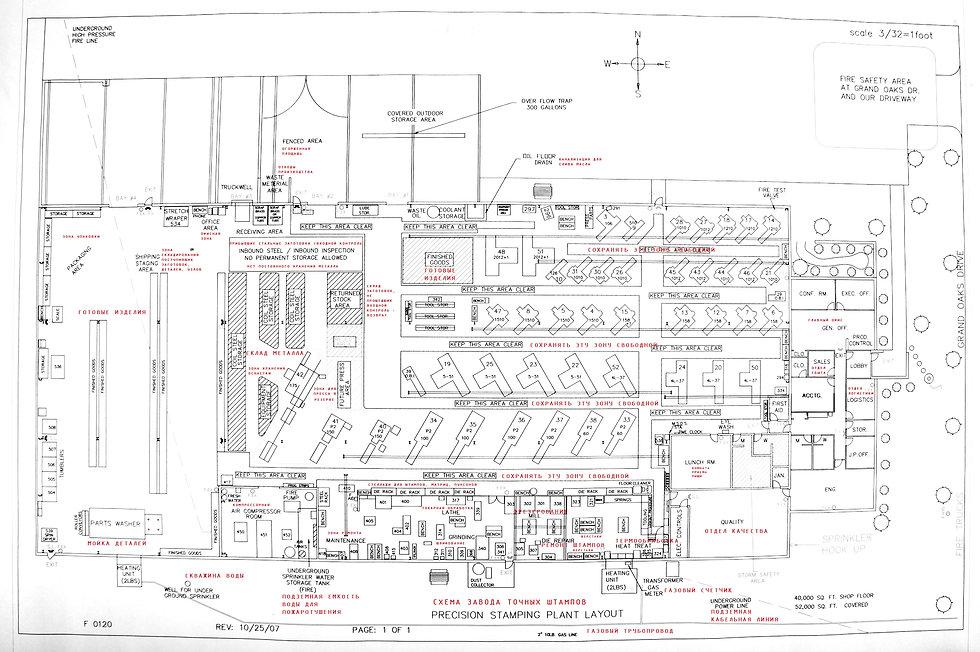 План завода по изготовлению и ремонту штампов и пресс-форм